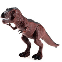 Wholesale 25cm long RC Dinosaurs Infrared Remote Control Electric Dinosaurs model Toys Xmas Gift For Kids