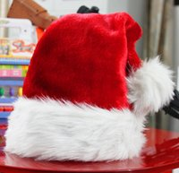 Wholesale Christmas gifts accessories thicken thicker velvet Christmas hat cute accessories Christmas party decorations adults and children General Sa