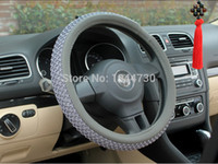 Wholesale Ice silk Leather Steering Wheel Covers size M CM Best Steering Cover Fit for most cars