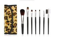 barrel making tools - Leopard Piece Set Makeup Brush Eyeshadow Brush Eyebrow Painted Make Up Brushes Set Cosmetic Brushes Tool Factory outlets
