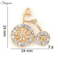 bicycle float - Retro Bicycle Charms Pendants Alloy Metal Fashion Women Handmade Jewelry Floating Locket Charms Silver Gold Plated