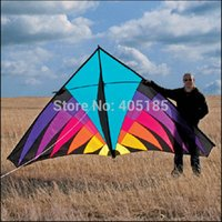 Wholesale Outdoor Fun Sports m Nylon Multicolor Power Triangle Kite Good Flying