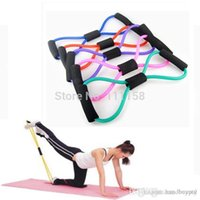 Wholesale 500 DHL Sports Elastic Pull Rope Resistance Training Bands Rope Tube Workout Exercise For Yoga Type Fashion xx