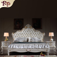 antique furniture reproduction - Antique reproduction furniture French royalty bedroom furniture solid wood carved queen bed with gold leaf gilding