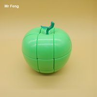 big apple gifts - Funny Apple Green Color Cube Puzzle Stickerless Great Gift Toys Kids x3x3 Magic Cube