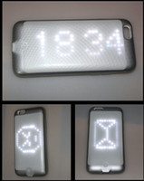 Adults apple iphone app - 2016 Wireless Bluetooth APP DIY LED Light Smart Phone Case for iPhone s Luminous Glowing Flashing Cover Customized Your Picture