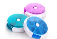 Rotating, portable   2016 New Weekly Rotating Pillbox Travel Pill Case Pill Organizer Medicine Box Pill Container WB0223