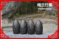 ancient chinese musical instrument - 10 hole Chinese Ancient Xun Flute Black Pottery Dual chamber Professional Clay Flauta Musical Instrument F key Ceramic Ocarina