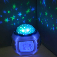 best touch desktop - Hot Music Starry Star Sky Projector Desktop Table Night Light Calendar Thermometer digital Alarm Clock For Kids Best Gift