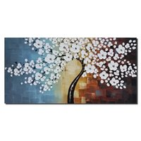 art not oil - not framed single sets Wall Painting plum Flower Home Decoration Cheap Art Picture Paint on Canvas hand painting