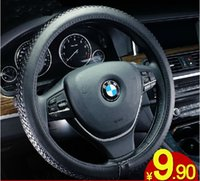 Wholesale Cheap Pu Leather Steering Wheel Covers size M CM Best Steering Cover Fit for most cars