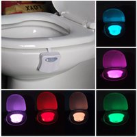 bathroom card - Body Sensing Automatic LED Motion Sensor Night Lamp Toilet Bowl Bathroom Light
