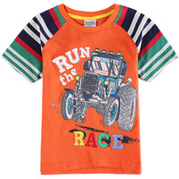 Wholesale T shirts Boys Cotton Summer Short Sleeves Round Neck Tops Fashion Classic Babys Hot Carton Kids clothing clothes for kids for Ages