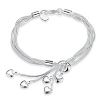 Wholesale New products listed Silver plated small loving heart fashion bracelet women jewelry