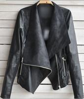 best women s leather jacket - Best PRICE Black Apricot PU Leather Jacket Womens Blazer Asymmetric Jacket Plus Size Leather Jacket