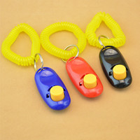 aids cats - Portable Pet Training Clicker Dog Cat Bird Horse Click Obedience Trainer Aid with Wrist Strap WA0292