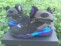 aqua hair color - Top Quality Air Jordan Retro Aqua Air Jordans Retro VIII Aqua Black Size Black Basketball Sneaker
