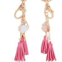 ballet key chains - Ballet Girls Tassels Key Chains Fashion Dancers Key Rings with Crystal Fine Car Key Chains for Women and Girls ysb