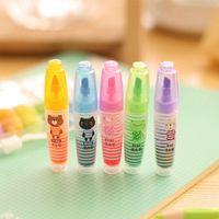 Wholesale cartoon highlighter pen mini marker pens kawaii stationery material escolar papelaria school supplies