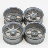 aluminum rc rims - 4 Aluminum Alloy RC On Road Racing Car Spoke Wheel Rims Grey car charger samsung tablet