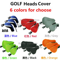 Wholesale Golf Club Heads Cover Set Soft Wood Golf Club Driver Headcovers Professinal Golf Head Covers Protect Set colou