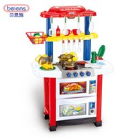 Wholesale Berns children s toy house girl toy sound effect simulation of the cooking in the kitchen kitchen lighting set