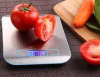 Caliente de la manera balanza de cocina Cooking Medir herramientas de acero inoxidable Peso electrónica de LED