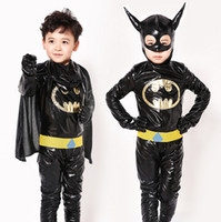 adult batman suit - New Christmas cosplay costumes Children Batman Costumes Boys Cosplay costume Dance party clothes Suits Cartoons Costume Adult For years