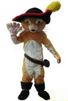 Cheap Factory Direct Puss In Boots mascot costume movie cartoon costume,fancy dress costume Free Shipping