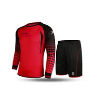 Wholesale Kelme K15Z209 Men Long Sleeve Tight Printing Wicking Super Stretch Competition Training Soccer Goalkeeper Suit Red Black
