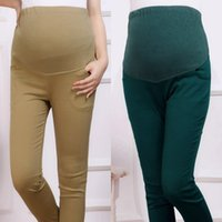 Wholesale Maternity Clothing Cotton Maternity Pants Pregnant Women Pants Maternity Trousers Slim Pregnancy Leggings Pregnant Women Belly Pants YK18