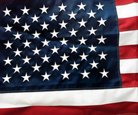 Wholesale American Flag X5 ft higt Quality Nylon Embroidered Stars Sewn Stripes Sturdy Brass Grommets X5 ft USA Flag