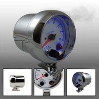 Wholesale 3 mm Tachometer Gauge Blue Led Light Tachometer Rpm Gauge RPM Meter With RPM Shift Light Auto Gauge