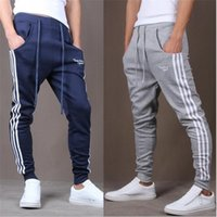 Wholesale Men s trousers best selling leisure time Small mouth Haren Pencil pants gym clothing joggers pantalon homme sport gym shark