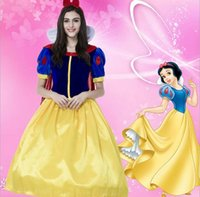 adult plus halloween costumes - Sexy Adult Halloween Dexlue A Line Dress Princess Costume Snow White Costumes For Women Party Dresses Cosplay Plus Size S XL