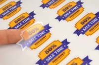 Wholesale Free design Custom PVC stickers printing personal plastic labels printed