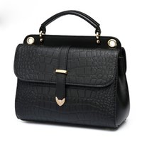 alligators skin - Classic Fashion Casual high quality ladies shoulder bags Crocodile skin printing pattern PU leather ladies handbags