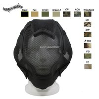 Wholesale Outdoor Shooting Sports Face Protection Gear V6 Metal Steel Wire Mesh Full Face Tactical Airsoft Mask