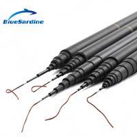 Cheap Wholesale-New Carp Fishing Pole Stream Hand Rod Telescopic Fishing Rod Carbon Fishing Tackle 4.5M 5.4M 6.3M 7.2M 8M