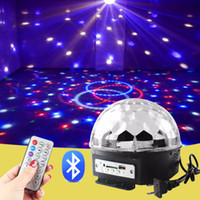 Wholesale Bluetooth Mini Laser Stage Lighting DJ Lighting Equipment RGB LED Crystal Magic Ball Light Stage Lighting Effect Disco Party DJ