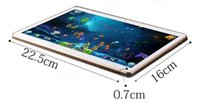 10 pulgadas de la tableta N9106 1280 * 800 IPS se doblan la llamada de teléfono de la base 1.6GHz 2GB + 16GB Adroid 3G del octa de Phablet de la PC de DHL El envío libre de DHL