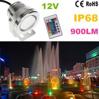Wholesale w v Silver LED Underwater Flood Light IP68 Waterproof Landscape lighting led Fountain Lamp