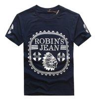 t-shirt - Robin s Jean Robin Jeans T Shirts Men s T Shirts Cotton Hip Hop Men Short Sleeve Crew Neck T Shirt