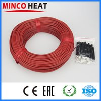 Wholesale K mm New Infrared Underfloor Heating System Cable for Poultry Farming m Yellow Red