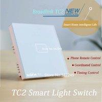 Wholesale Broadlink TC2 UK Standard gang smart home Automation phone Remote wireless Wall light lamp touch Switch by broadlink rm pro