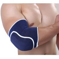 Wholesale 1 Sport and Fitness Elbow knitted thick sponge basketball crash Support Brace Pads