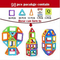 Wholesale 98PCS Similar Magnetic Toy Kids Educational Toys Creative Bricks Toys For Children D DIY Building Blocks Set