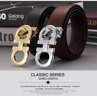 Wholesale Man Smooth Buckle Letter Genuine Leather Youth Leisure Time Joker Quality Goods Waist Pure Cowhide Belt Mens Designer Luxury For