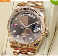 auto chocolate - Luxury WATCH Fashion Watch Chocolate Diamond Ruby Dial Everose Gold CHODRP MAN Wristwatch
