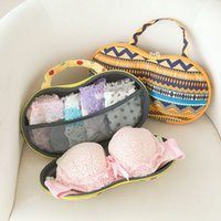 Wholesale Stylish Portable Lingerie Storage Case Sexy Lady s Colorful Bra Chest Bag Underwear Organizer Travel Bag For Women